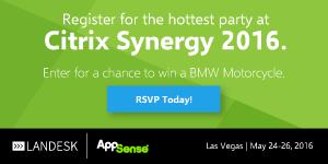 AppSense - Banner A - Citrix Synergy 2016