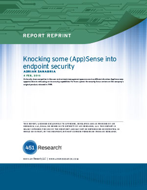 Knocking some (App)Sense into endpoint security: 451 Research Paper (PDF)