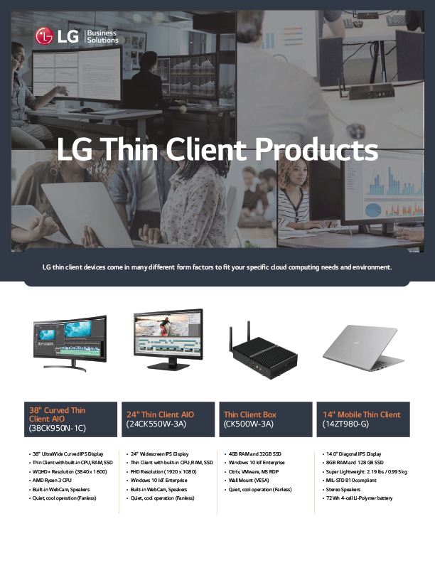 LG Thin Client Products