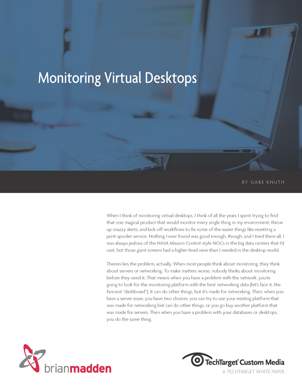 White Paper: Monitoring Virtual Desktops