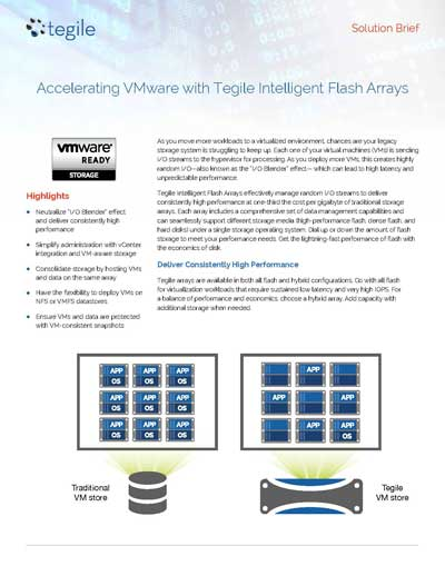 Solution Brief: Accelerating VMware with Tegile Intelligent Flash Arrays