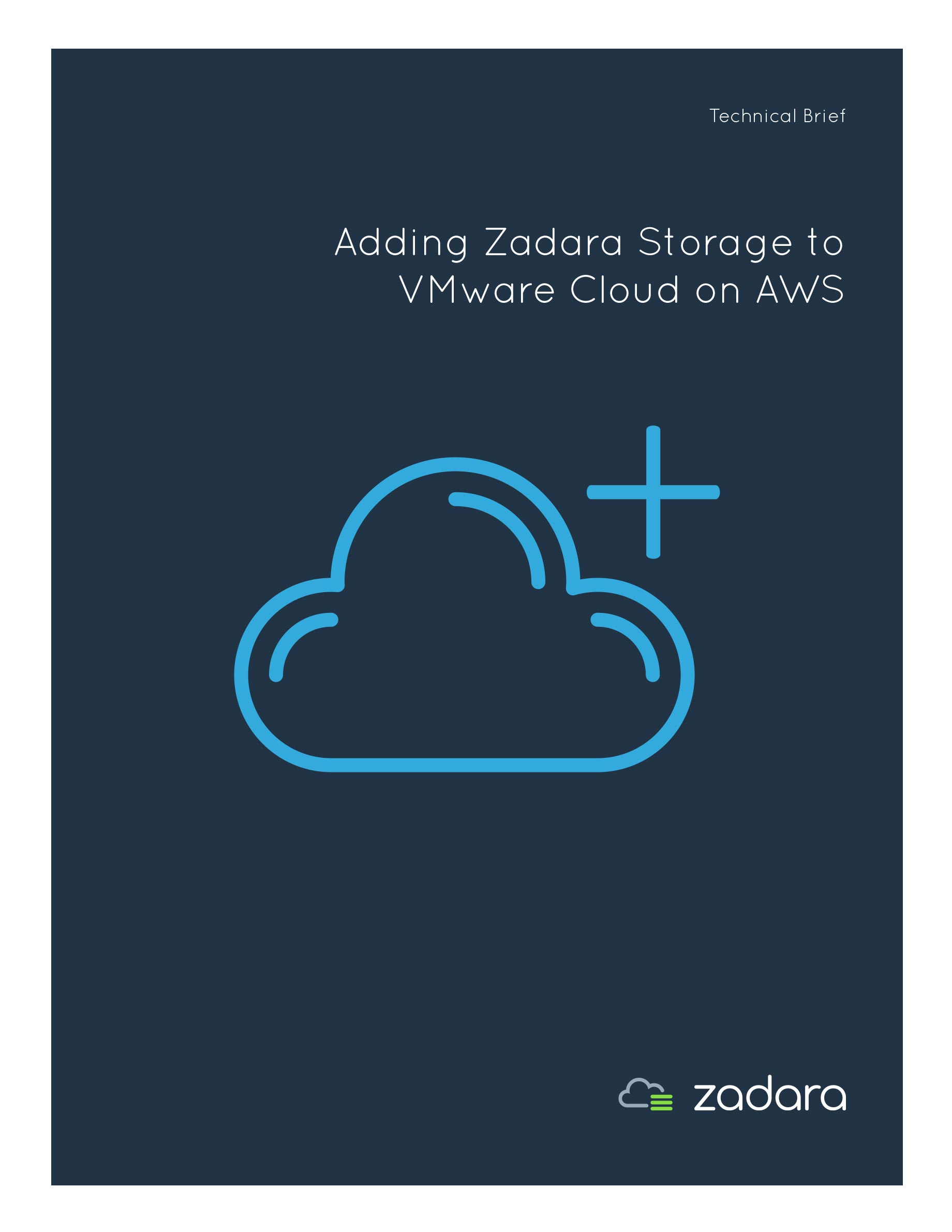 Technical Brief: Adding Zadara Storage to VMware Cloud on AWS